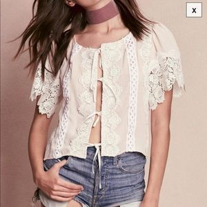 For Love and Lemons Hayley Lace Top New M